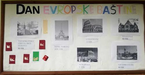 Evropska baština - školski pano