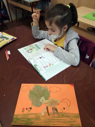 Crtanje na jesenjem lišću